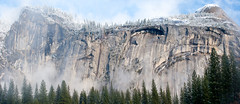 Royal Arches Winter Storm - View Large (Amicus Telemarkorum) Tags: trees winter sky mist snow mountains weather panoramic climbing yosemite yosemitenationalpark february 2009 merge 59 royalarches jeffreyrueppelphotography