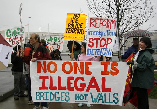 No One is Illegal, Bridges NOT Walls