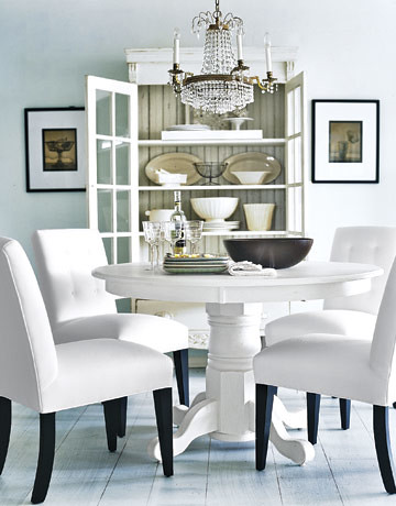 Dining room interior design and lighting