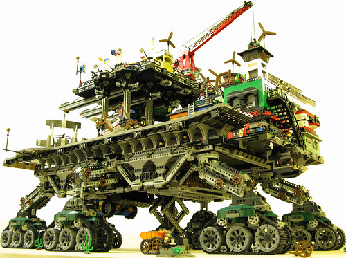 steampunk lego town by dave degobbi