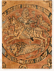 Fabric with cavaliers 4th-6thc Egypt - Sassanian influence (julianna.lees) Tags: ancient silk shroud textiles sassanian doubleheaded sassanid suaire
