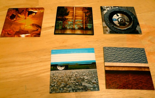 the completed 4x4 prints
