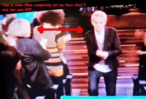 this is ellen trying to deny the obvious...
