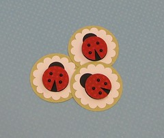 Pretty Lil' Ladybugs (JustScrappinHappy) Tags: red summer black green scrapbooking paper fun cards spring photos handmade crafts tag pearls gifts gift embellishment surprise button ladybug scallop embellishments polkadot prettyflowers etsyshop shessocrafty craftaday arainbowofcolor allthingsfun shesocraft gittag