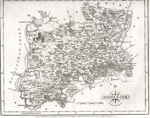 Map of Middlesex in 1787