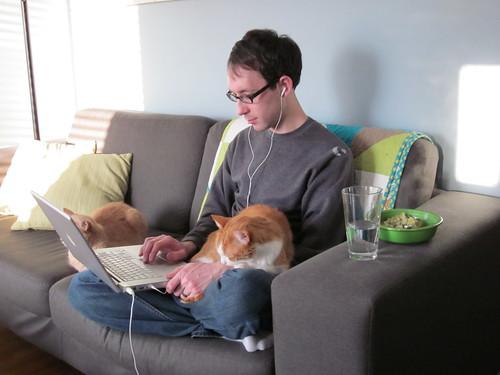 Jon & the kitties