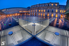 o X o (A.G. Photographe) Tags: longexposure blue sunset fish paris france monument night french nikon fisheye bleu ag bluehour nikkor bp nuit palaisroyal franais hdr buren parisian colonne anto couchdesoleil photographe xiii parisien expositionlongue poselongue heurebleue 16mmfisheye burenne d700 baladesparisiennes 16mmnikonfisheye hdr7raw colonnedeburenne agphotographe
