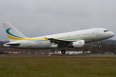9H-AFK - 2592 - Comlux Aviation - Airbus A319-115X CJ - Luton - 091214 - Steven Gray - IMG_5249