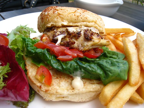 Grilled Codfish Burger, mildly deconstructed (Swiss Grill @ Coronation Plaza)