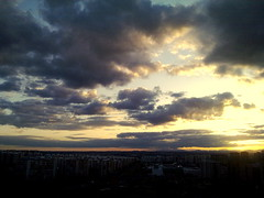 A view from a window-sunset (Aleksejs Medvedevs (Alex)) Tags: nokia n85 skynubessunsetmadridbarriopilarlavaguada