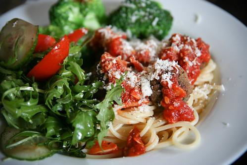 Spaghetti and neatballs