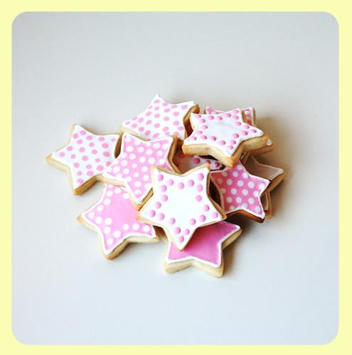 Pink&White Polka dots Sugar Cookies