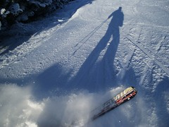 Atomic Skies (Evgeny Rezunenko) Tags: winter sun snow ski ice fun austria jump freestyle wind air extreme tricks snowboard blizzard bigair offtrack serfausfissladispowder