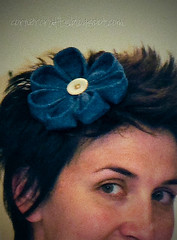 fabric denim headband hair clip