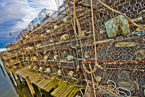 More crab pots. Youll see a lot of crab pots stacked up on Smith Island. Especially during the crabbing off-season.
