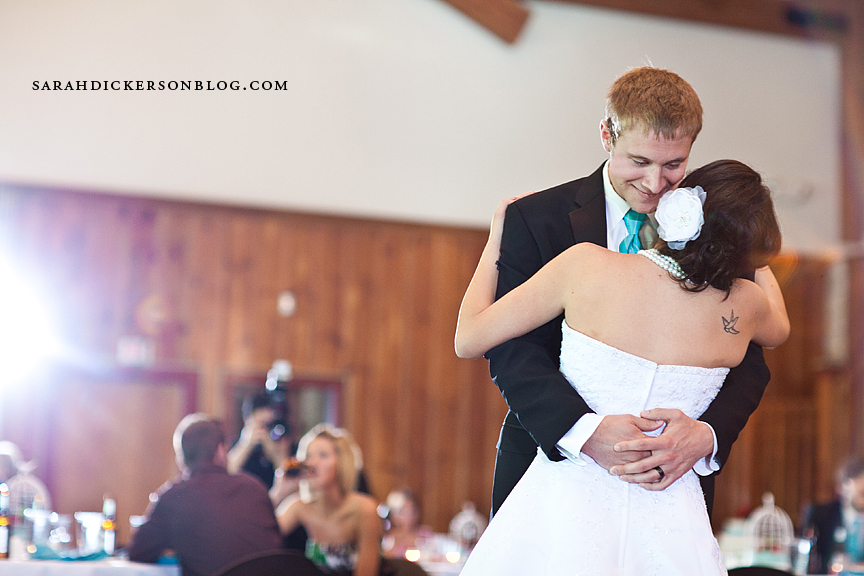 Lodge at Ironwoods Park wedding reception photos