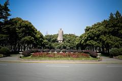. (ochurchill) Tags: china colour photoshop nikon university mao 中国 fudan hover 复旦 毛 复旦大学 漂浮 d3100 毛像
