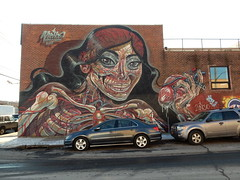 Inside out (aestheticsofcrisis) Tags: street art urban intervention streetart urbanart guerillaart graffiti new york newyorkcity nyc newyorkstreetart newyorkgraffiti brooklyn bushwick nychos bushwickcollective mural muralism muralismo