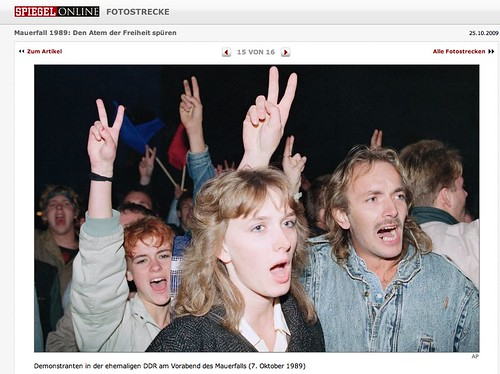 Mauerfall bei Spiegel Online