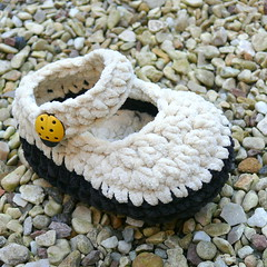 Crochet Baby Bootees suede-ecru Booties (funkybootees) Tags: winter boy baby cute girl rose toys clot