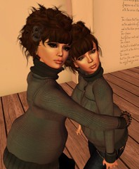 [ Insert twin love here ] (Lemon Tissue) Tags: 3d friendship avatar sl secondlife lilly virtualworld alianatomsen eliesfurse