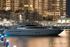 Qatar Pearl -   (Barhoomo) Tags: ocean sea water night project photography boat amazing nikon shot taxi jet land pearl ibrahim doha qatar  younes        d80           80