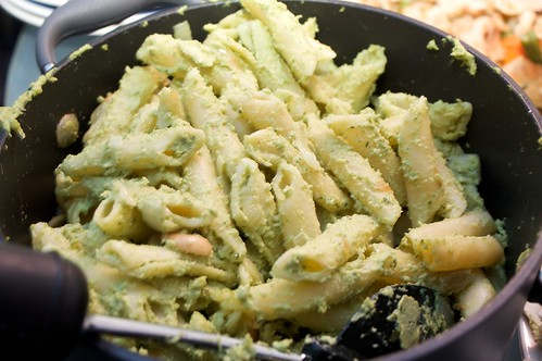 parsley and cashew pasta