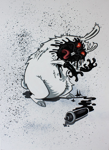 spray in your face canvas (RABBIT EYE MOVEMENT) Tags: face spray your nychos
