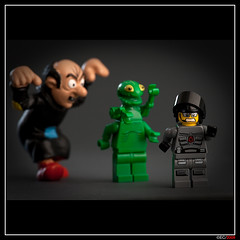 The worst nightmare (ErnestoCarrillo70) Tags: lego humor minifig gargamel spacepolice