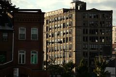 Broken (phillytrax) Tags: city windows sunset urban abandoned philadelphia broken grit pennsylvania centercity decay philly callowhill eraserhood goldtex postbrothers pestronk