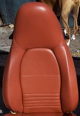 99PorscheCoupe2 (truckandcarseats) Tags: red leather 1999 porsche boxster coupe fronts
