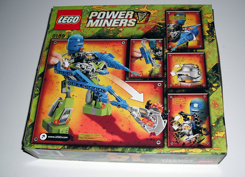 2010 LEGO Power Miners 8189  Magma Mech - Box Back