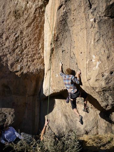 Rob Climbing...