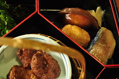 [Day5/Kochi]日曜市定食:右上角有三個稻荷壽司