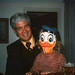 Frank Moss with Ben Treasure in a Donald Duck mask (he's now over 6 foot tall)