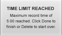 Screenr - Time Limit Reached