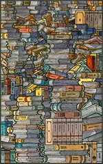 Closed books (freekhand) Tags: ink watercolor doodles buildup garabatos closedbooks