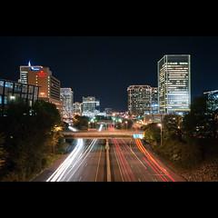 Expressway (Sky Noir) Tags: city travel sky cars night lights virginia nikon highway downtown noir image richmond va interstate expressway i195 195 noticings skynoir bybilldickinsonskynoircom