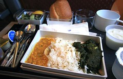 Singapore Airlines Inflight Meal (A Sutanto) Tags: food inflight rice indian meals selection curry airline sq spinach sia option singaporeairlines