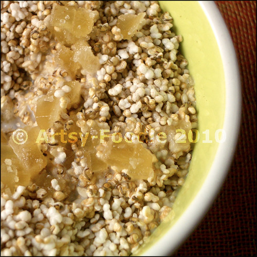 amaranth cereal with ginger