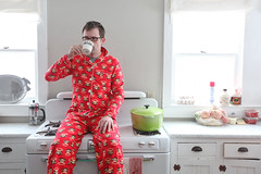 caffeination (sgoralnick) Tags: ny farmhouse bedroom chad upstate upstateny newyears paulfrank pajamas partyhouse matchingpajamas monkeyprint