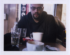 Fuji Instant Film (sm_fenn) Tags: portrait colour coffee polaroid fuji glasgow silk super plus shooter icafe fp100c instandfilm professionalfilm