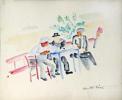 La cafenea-Balcic_acuarela_Muzeul de Arta Constanta