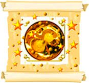 Quality Gold Seal Scroll Invite image.
