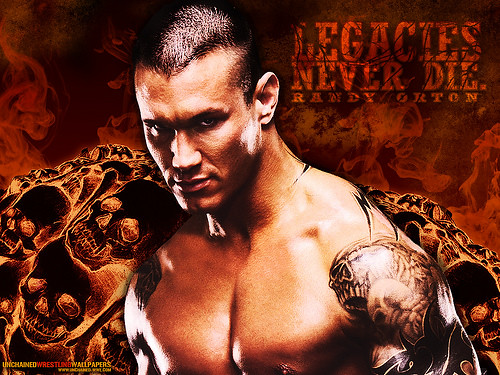 Randy Orton has a tattoo on forearm tattoos tribales, shoulder tribal