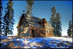 HDR #353 - Shaded House (Pete's Photo Magic) Tags: wood old house canada building abandoned barn vintage log pentax shed machine forgotten alberta abandonment hdr iamcanadian 3xp photomatix k20d pentaxart