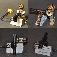 Minigun Handle (The Ranger of Awesomeness) Tags: lego battery mounted minigun modify brickarms