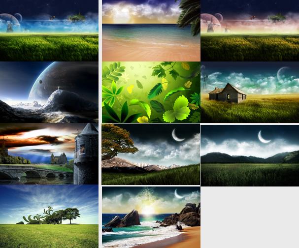 خلفيات مجسمة 3d للطبيعة بالوان وجودة عالية للتحميل من هنامواضيع