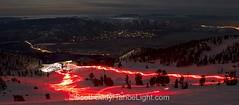 torchlight parade on skis (Tahoe Weddings - PhotographyByMonique.com) Tags: ca winter usa mountain ski sport dedication rose creek mt fireworks slide parade lodge recreation reno skis winters torchlight mtrose