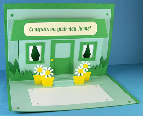 New Home Pop Up Card by She's Batty Designs